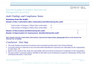 DNV Audit 2015