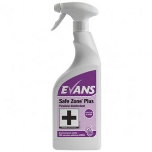 Safe Zone Plus Virucidal Disinfectant - EN 14476