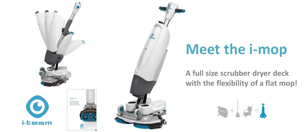 I-Mop - Full size scrubber dryer with the flexibility of a flat mop