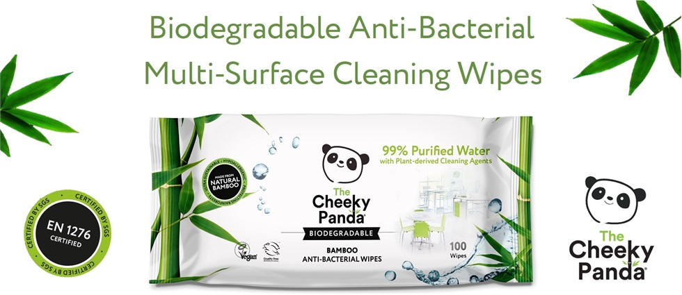 The Cheeky Panda Biodegradable, Antibacterial Multi-Surface Wipes