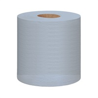 Click for a bigger picture.Centrefeed Rolls 2ply Embossed Blue C2B129E 120m