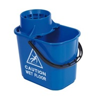 Click for a bigger picture.15L Blue Professional Mop Bucket + Wringer