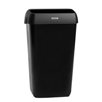 Click for a bigger picture.xx Katrin Black 25LTR Bin With Lid 92261