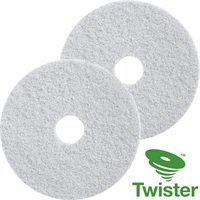Click for a bigger picture.Twister Diamond Floor Pads 11'' White