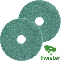 Click for a bigger picture.Twister Diamond Floor Pads 12'' Green