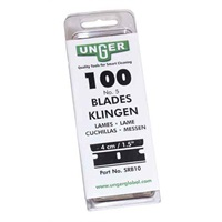 Click for a bigger picture.Unger Glass Scraper Blades 4CM - Caution - Sharp Object