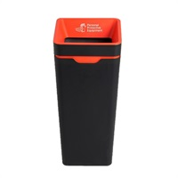 Click for a bigger picture.method Bin 60L - Open Lid - Red - PPE Waste