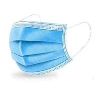 Click for a bigger picture.3Ply Blue Disposable Face Masks ( Surgical Style )